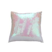 Mermaid Pillow Cover Champagne/White Change Color Sequins