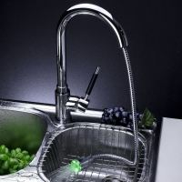 Single Handle Solid Brass Pull-Out Kitchen Faucet with ...