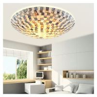 Shell Block Tiffany Flush Mount Ceiling Light