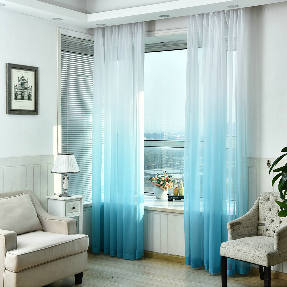 Gardinen Modern Design Living Room Voile Curtains Breathable Sheer Curtains For Living Room Modern Minimalist Printing Designs (one Panel)