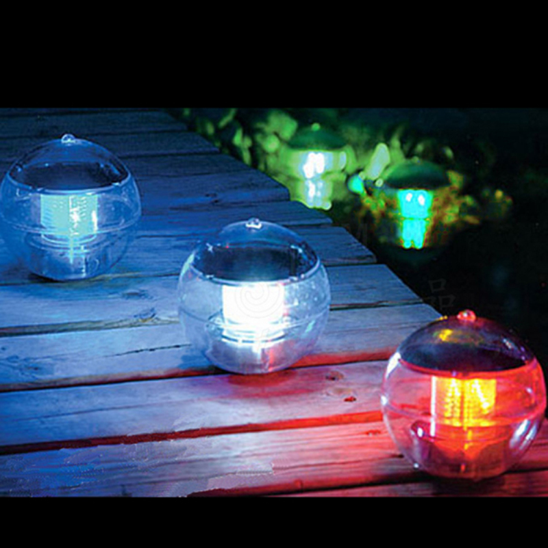 Rustic Faucets Solar Power Changing Color Led Floating Light Ball Lake