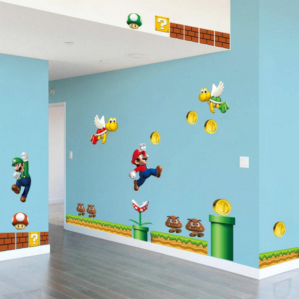 Wandtattoo Mario   Wandtattoo Baum Kinderzimmer Xxl Von Wandtattoo ...