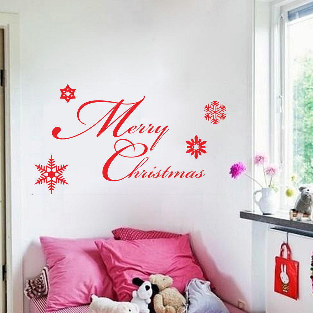 Wandtattoo Design Pvc Wandtattoo Weihnachten Merry Christmas Design
