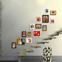 Moderne Bilderrahmen Set aus Holz-14er Set