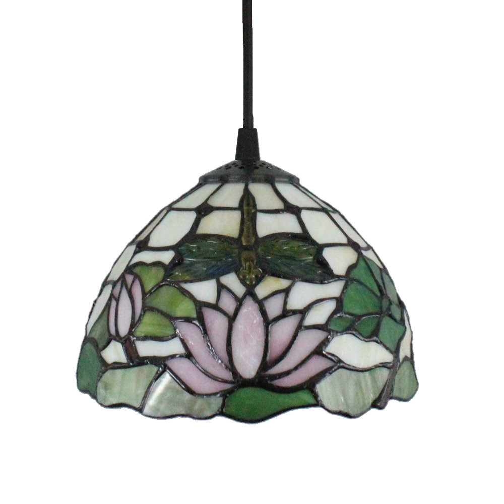Luminaire Suspension Vintage Suspension Vintage En Verre Tiffany à Motif De Lotus Luminaire
