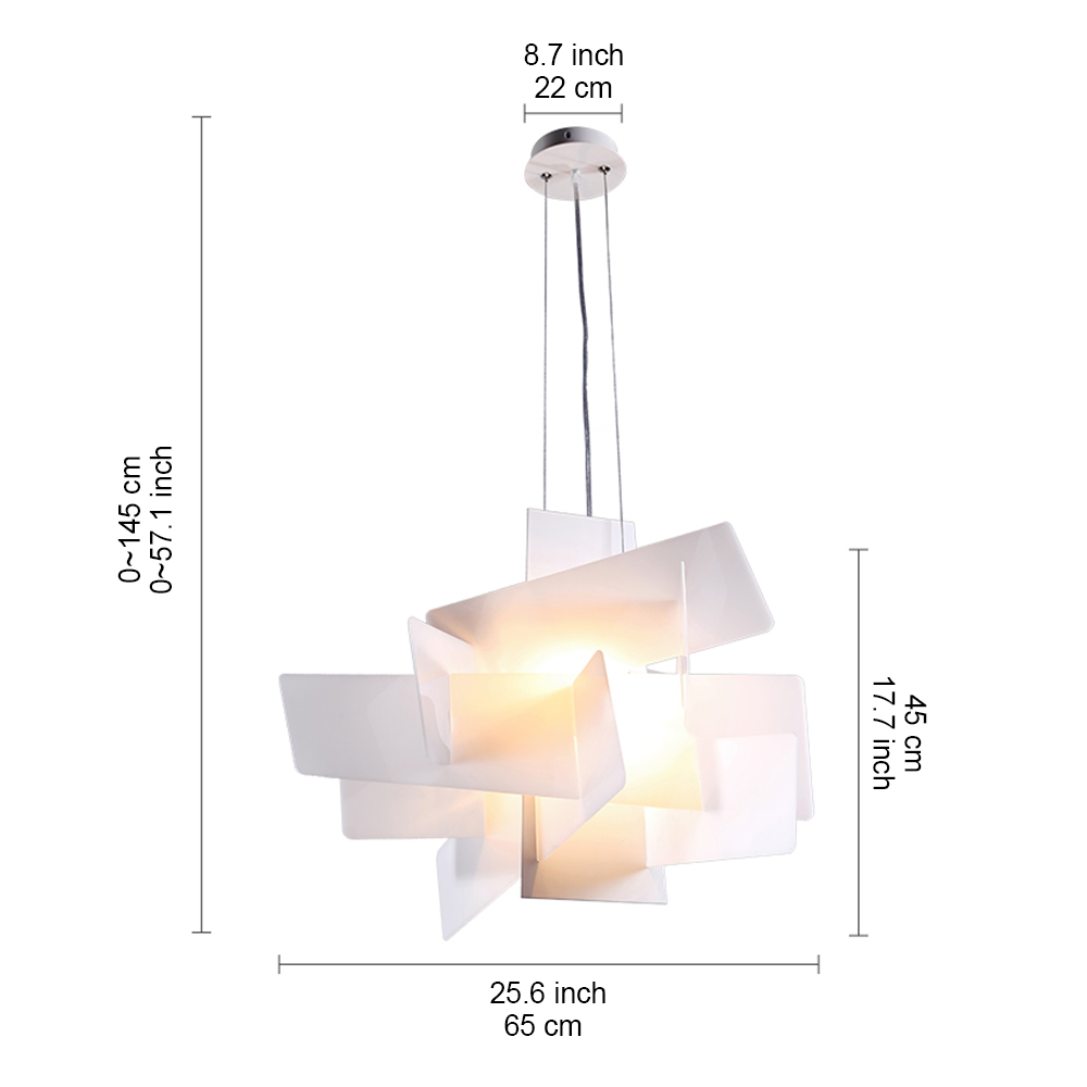Suspensions Design Pas Cher Lustre Blanc Explosion Suspension Design L45cm Acrylique Luminaire