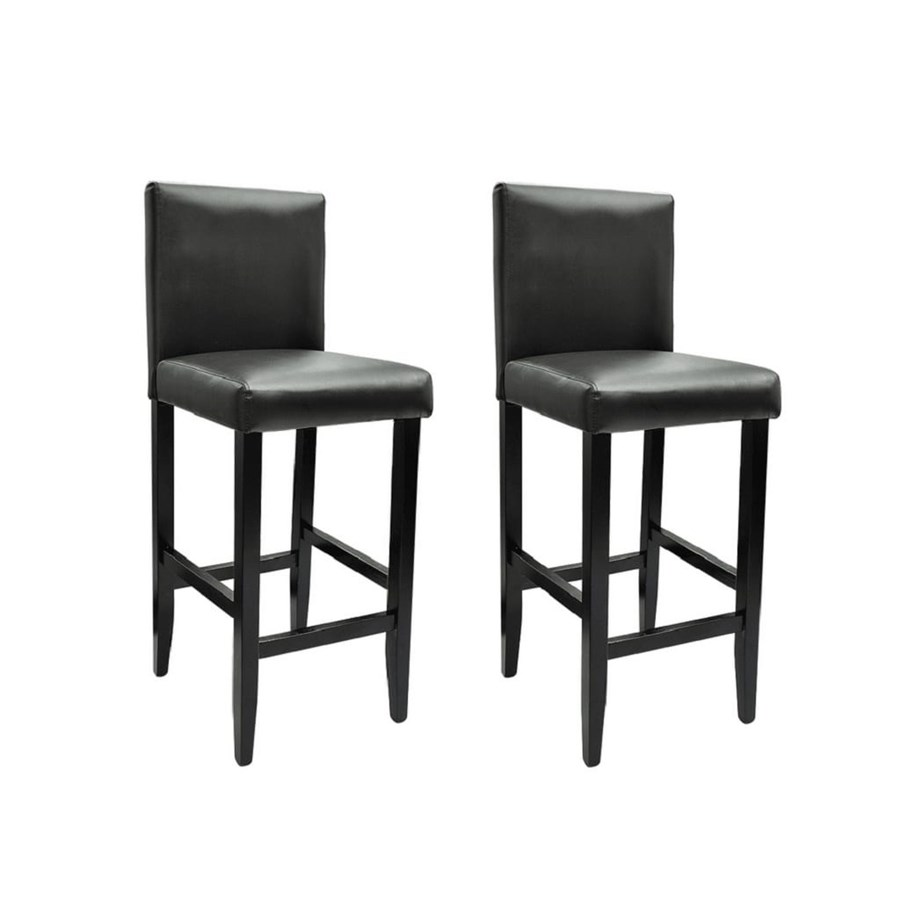 Sgabelli Design Vidaxl Set 2 Sgabelli Da Bar In Pelle Artificiale Nera Design Nero