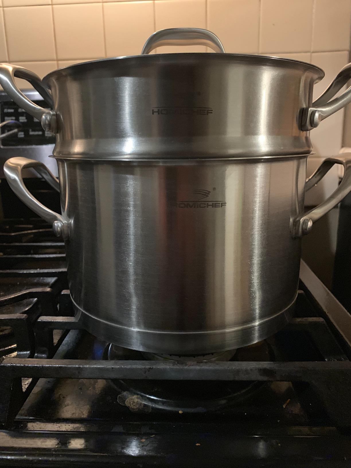 Big W Stock Pot Homi Chef Matte Polished Nickel Free Stainless Steel 3 5 Qt Stock