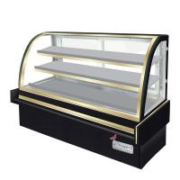 Curved Glass Cake Display Counter Chilled Food Display