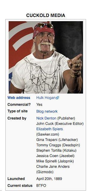 Hulk Hogan Wiki Gawker 39s Wikipedia Pages Get Trolled In Wake Of Hulk Hogan