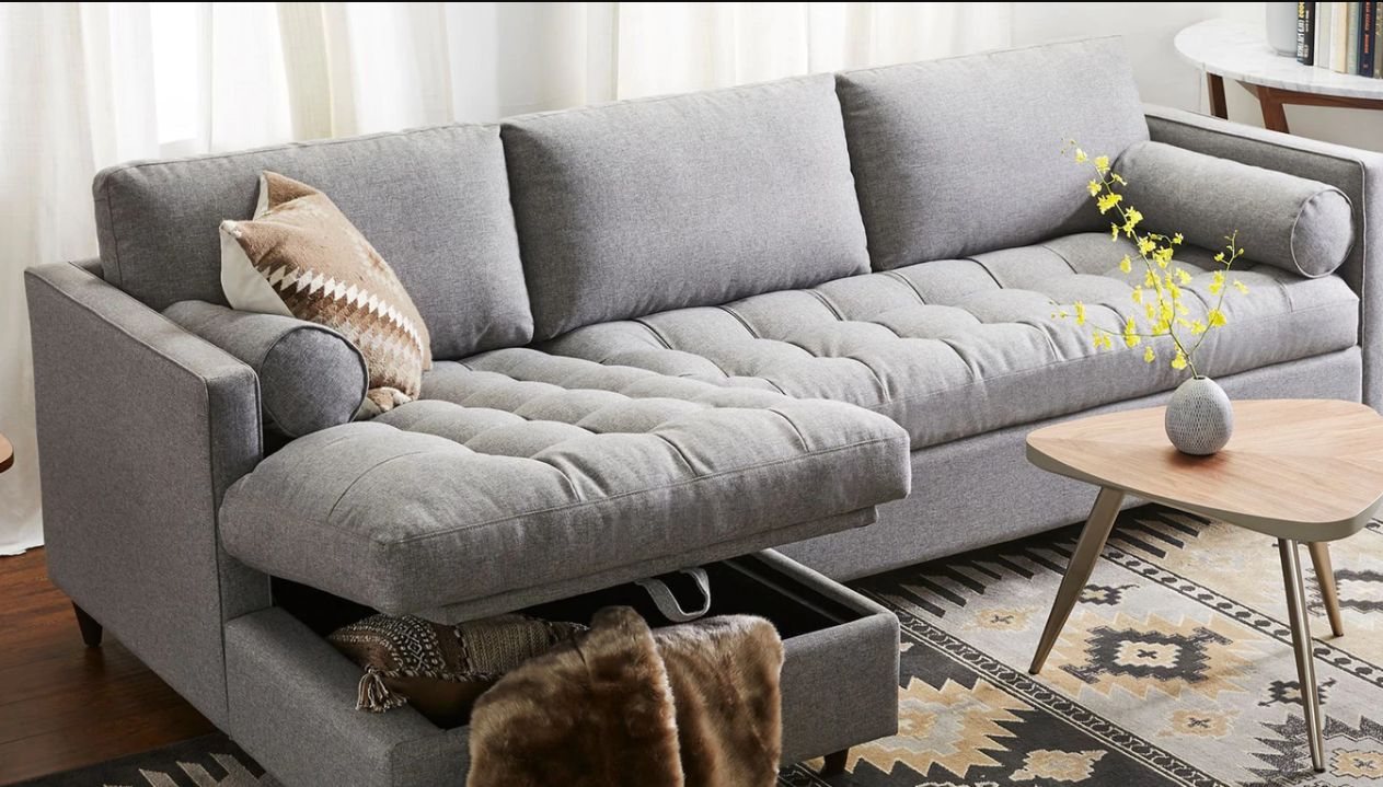 Vallentuna 4 Seat Modular Sofa With 3 Beds 17 Storage Sofas And Sectionals For Small Spaces Huffpost Life