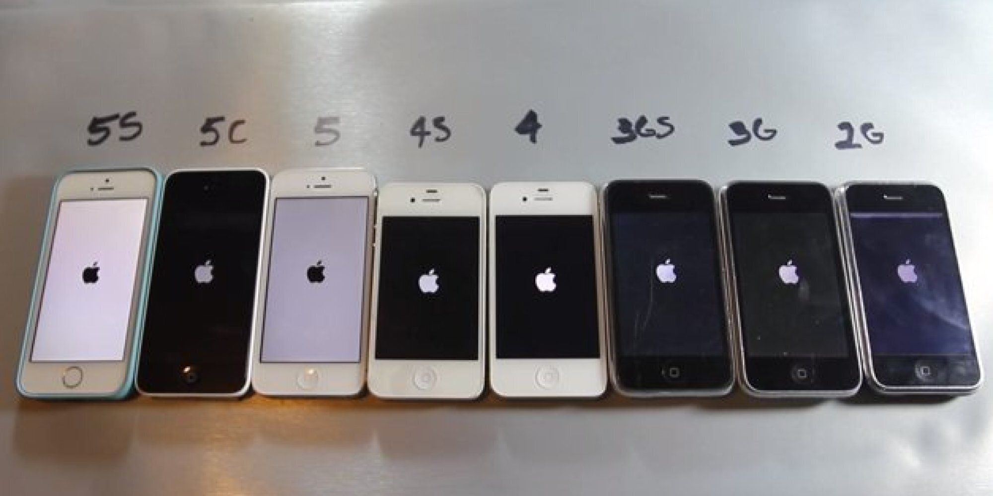 Iphone Maße Every Iphone Compared In Mass Video Test | Huffpost Uk