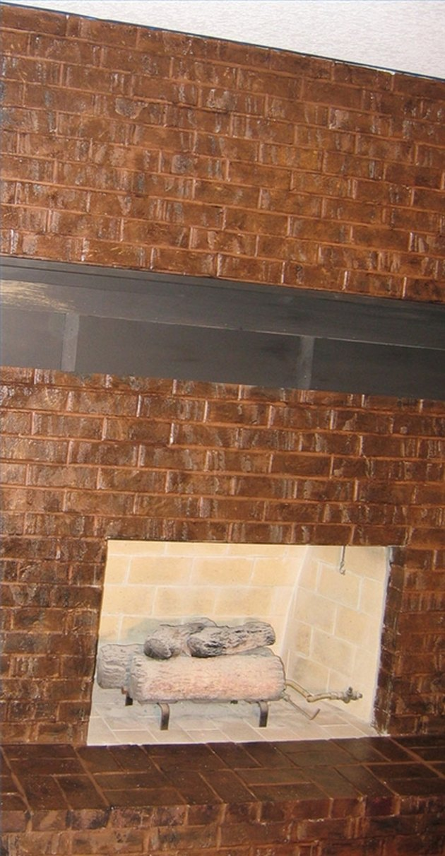 Copper Fireplace Faux Painting Techniques For Bricks | Hunker