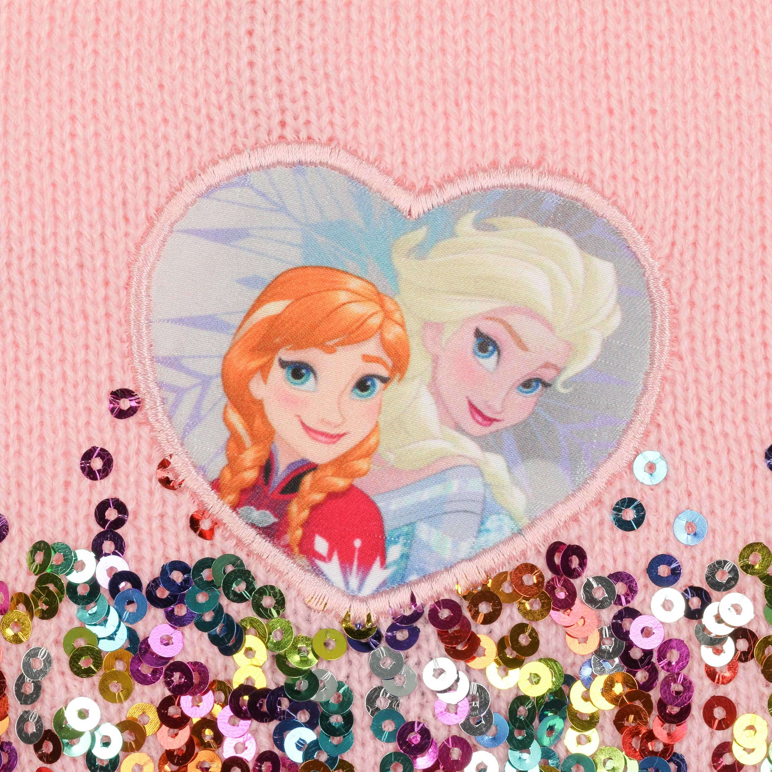 Elsa Anna Elsa And Anna Frozen Beanie With Sequins