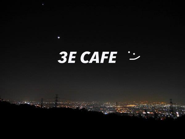 台中看夜景的秘密基地❤ 3E CAFE❤平價又能跟龍貓一起拍照的約會好咖啡廳!!!