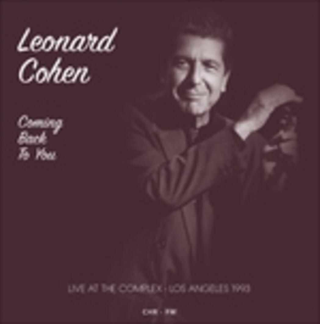 Leonard Cohen Libros Coming Back To You Live At The Complex Los Angeles
