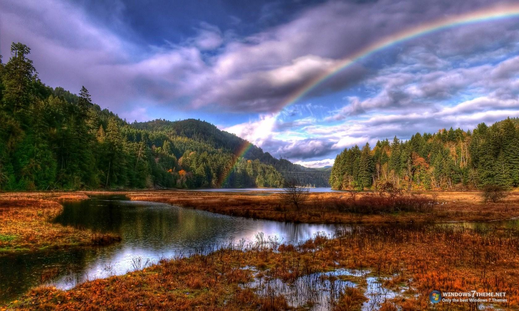 Bing Fall Desktop Wallpaper Rainbows Windows 7 Theme Download