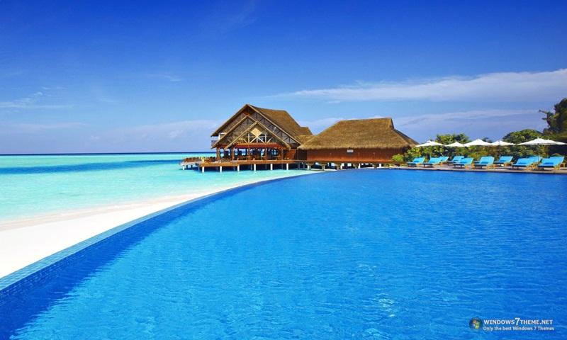 Hd Santorini Wallpaper Maldives Windows 7 Theme Download