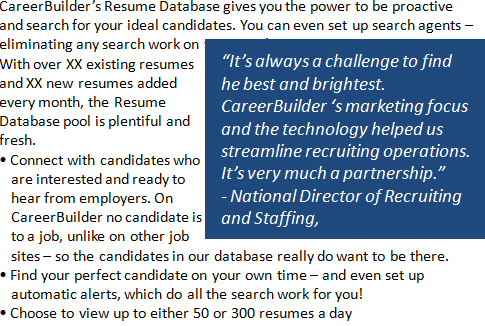 Free Demo CareerBuilder India Resume Database - careerbuilder resume search