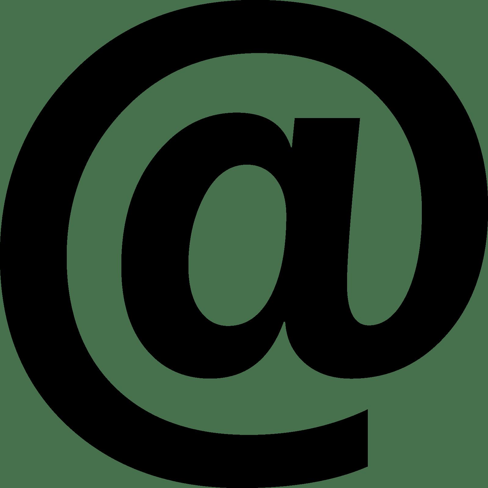 symbole email cv