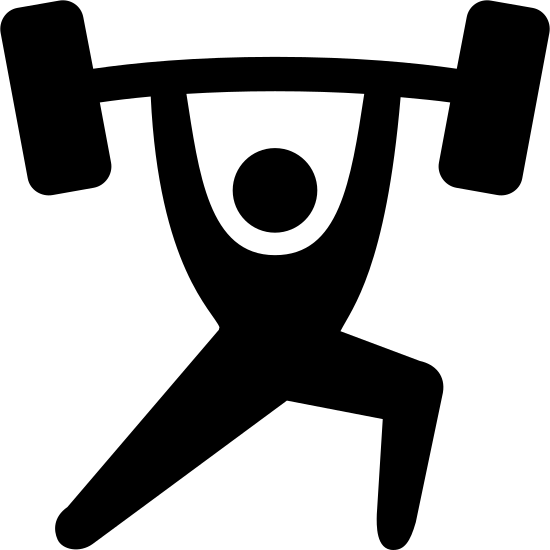Fitness Logo Vector Png Weightlifting Icon Free Download Png And Vector