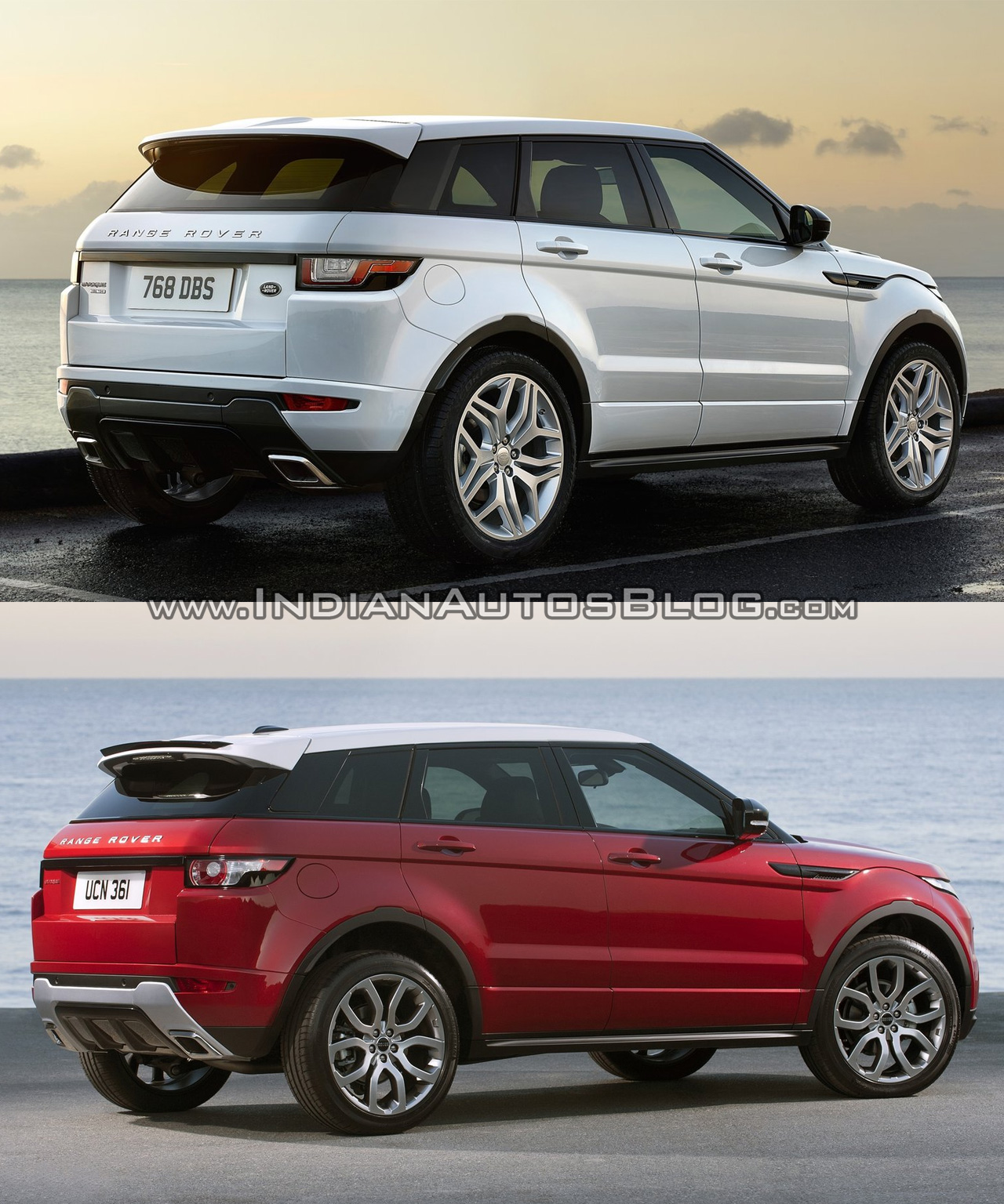 Land Rover Vs Range Rover 2016 Range Rover Evoque Facelift Vs 2015 Evoque Old Vs New