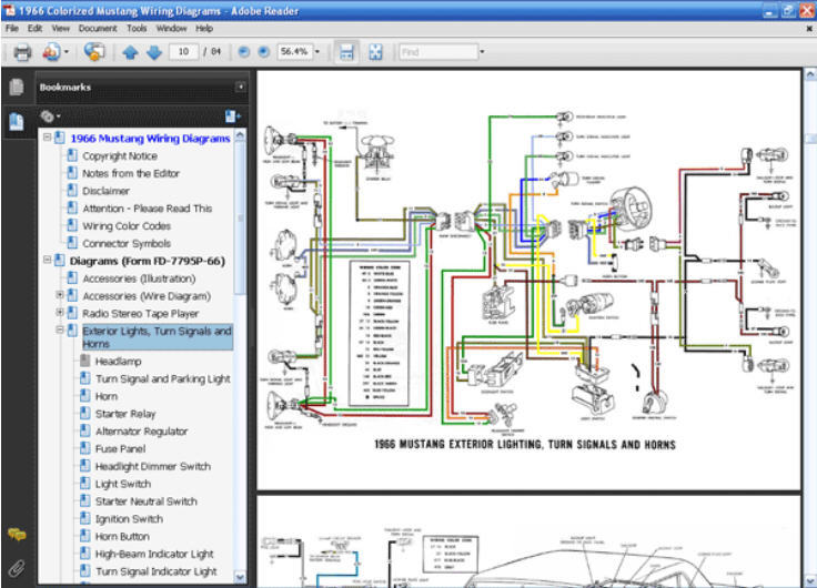 1966 Mustang Dash Wiring Diagram For Horn Index listing of wiring