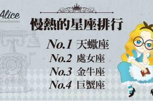 「那些星座最慢熱?」排名第二的根本只是悶騷 – 星座女王Alice
