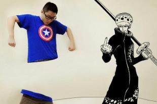 【霸氣】虛擬結合現實的 8 張圖,《海賊王》大神的創意讓人嘆為觀止! – 動漫的故事
