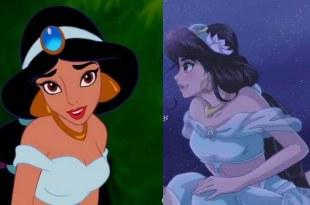 【迪士尼公主大改造】日本漫畫家把茉莉公主變超美,但花木蘭有點怪…. – 動漫的故事