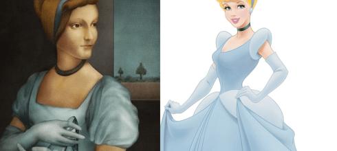 當迪士尼公主穿越到文藝復興時期,灰姑娘眉毛去哪裡了,白雪公主撞臉蒙娜麗莎。 – 動漫的故事