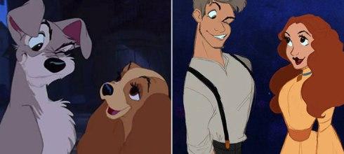 「 7 組迪士尼電影角色動物擬人化了!」尼莫父子和多莉真的太奇怪了– 動漫的故事