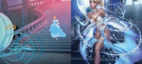 畫風突變!「 7 幅限制級大人版的童話故事插畫」灰姑娘禮服消失了!小紅帽也不再單純了⋯⋯- 動漫的故事