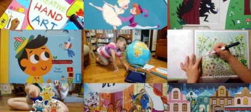 [揪團]10月書團:音樂音效書,硬頁書,美術書, 貼紙書,遊戲書盒|英國Little Brian無毒可洗兒童水彩棒