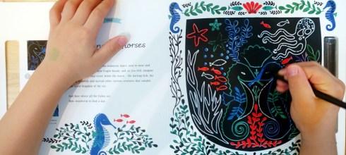 刮刮刮就出現顏色的神奇版畫書|Etchart: Secret Sea,還有水畫冊
