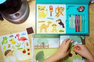這樣玩畫畫|我的美術家手提盒My Artist Kit,玩仿畫、著色、貼紙、蓋印、模板畫及貼畫