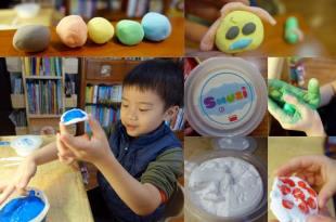 觸覺敏感居家遊戲|西班牙akros感統教玩具-Smuzi創意著色黏土(可重覆用)