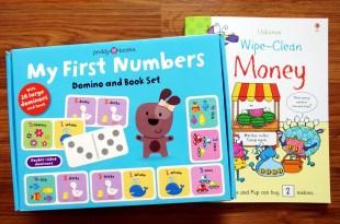 學齡前數學邏輯 擦寫書WipeClean Money怪獸買東西 數字骨牌遊戲書盒