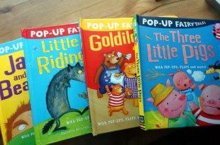 孩子的4本大尺寸童話立體書|PopUp Fairytales|三隻小豬、小紅帽、傑克與魔豆、金髮姑娘