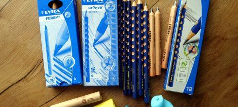 握筆階段的鉛筆如何選?同大爺的德國Lyra三角洞洞鉛筆和握筆器