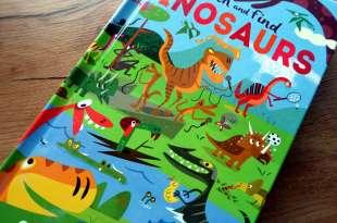 喜感又阿Q的侏羅紀,西班牙漫畫家童書|Search and Find Dinosaurs|大翻頁找找書