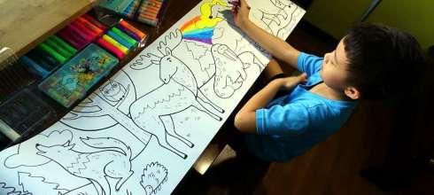 超能打發時間|美國Mudpuppy動物捲軸著色畫|長達300公分