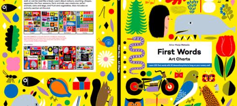[書櫃必備]會讓人覺得開心的大尺寸海報書●First Words: Art Charts●