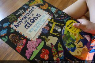 適合小小孩的大尺寸遊戲書●lonely planet世界探險系列貼紙書 ●