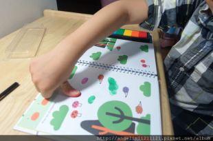 更新[4y11m] 觸覺敏感●指印畫裡玩感統●含使用觸覺刷心得