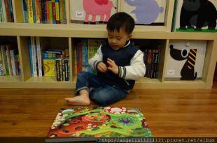 同大爺書報●適合1-3歲硬頁書單(10)●USBORNE瓢蟲發條書/Peep inside Farm