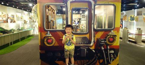 親子遊~坐捷運就到●台北鐵枝路特展●在台北市政府看火車展(台北探索館)