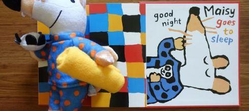 [同大爺書報]可愛的小鼠波波玩偶,還有晚安書●maisy Goes to Bed●