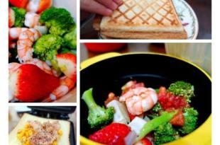 【食譜筆記】早餐吃的像皇帝●草莓海鮮蔬菜沙拉+烤玉米鮪魚香蒜吐司●