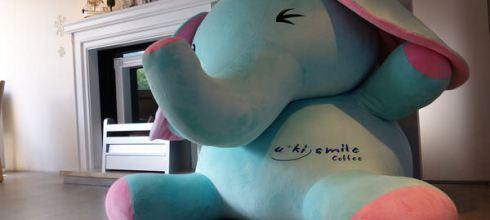 ●可惜非賣品●u-ki smile雪花微笑咖啡的小飛象太吸晴